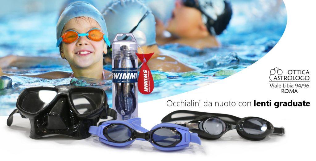 Occhialini da nuoto con lenti graduate