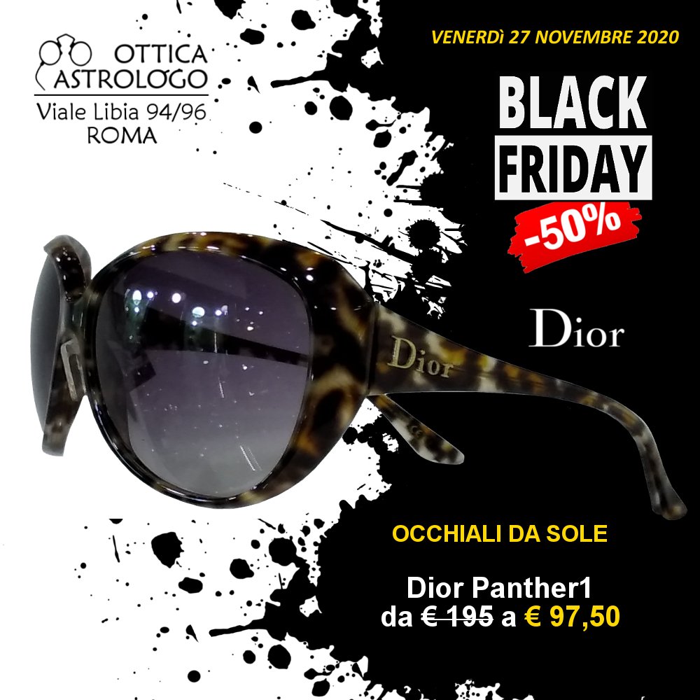 black friday 2020 sconto del 50% su occhiali da sole Dior
