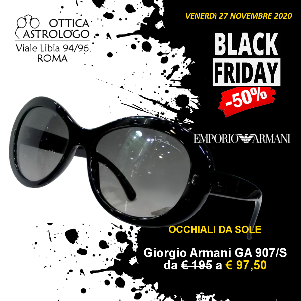 Black Friday 2020 sconto del 50% su occhiali da sole Armani