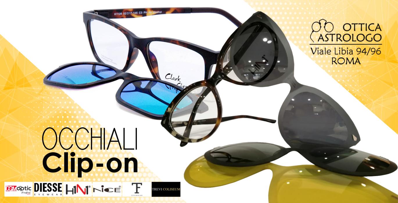 occhiali con clip-on
